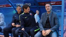 """Тренеры """"Енисея"""" Дмитрий АЛЕНИЧЕВ (справа) и Егор ТИТОВ."""