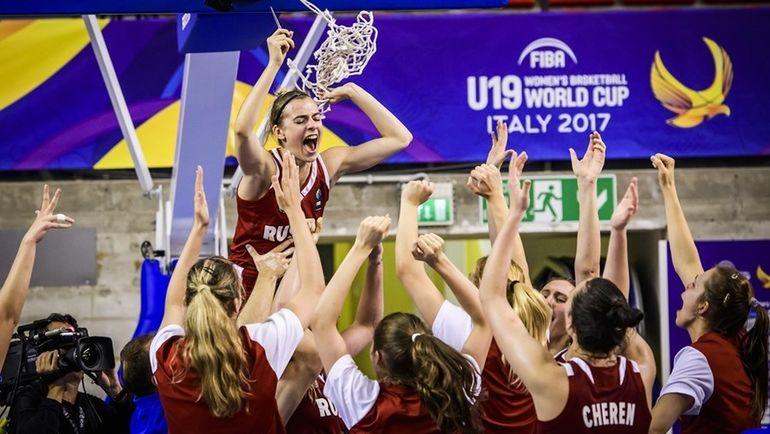 Вчера. Удине. США - Россия - 82:86. Россиянки празднуют победу на чемпионате мира. Фото FIBA