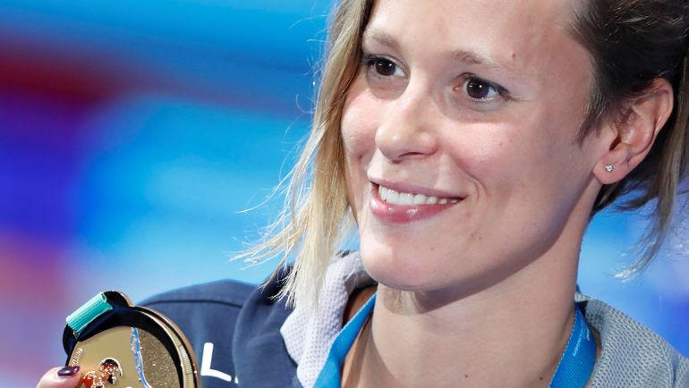 Федерика ПЕЛЛЕГРИНИ сенсационно нанесла Кэти Ледеки ее первое поражение на чемпионата мира. Фото AFP