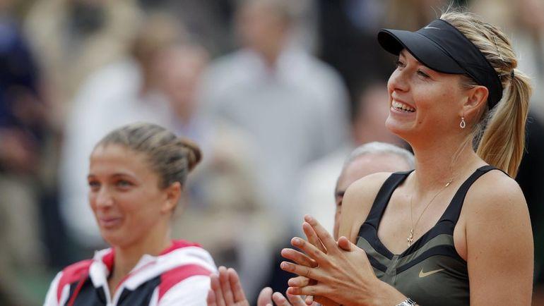 Сара ЭРРАНИ (слева) и Мария ШАРАПОВА встречались в финале Roland Garros в 2012 году. Победила тогда россиянка. Фото REUTERS