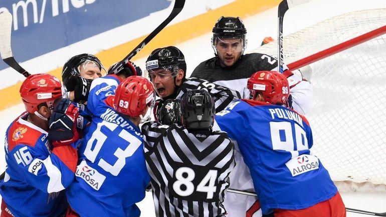 Сегодня. Сочи. Россия - Канада - 3:2. Встреча получилась не по-товарищески эмоциональной. Фото ХК СКА