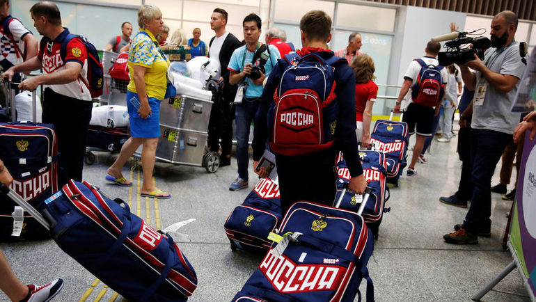 Символы России - под запретом на чемпионате мира в Лондоне. Фото Reuters