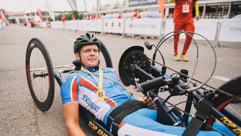 Шестикратный чемпион России по хендбайку Андрей ШИРЯЕВ.