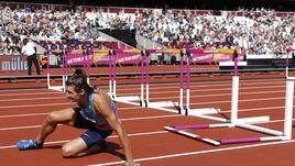 Сегодня. Лондон. Илья ШКУРЕНЕВ не смог продолжить соревнования из-за травмы.