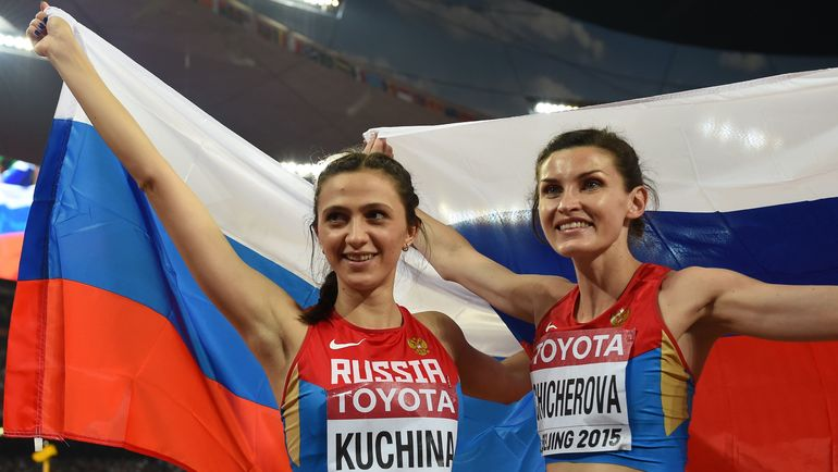 Мария КУЧИНА (слева) и Анна ЧИЧЕРОВА в Пекине-2015. Фото AFP