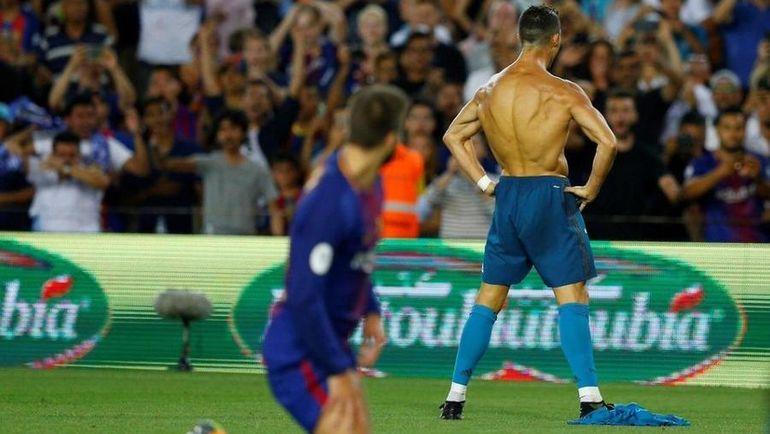 """Сегодня. Барселона. """"Барселона"""" - """"Реал"""" - 1:3. КРИШТИАНУ РОНАЛДУ: выход на замену, победный гол и удаление. Фото REUTERS"""