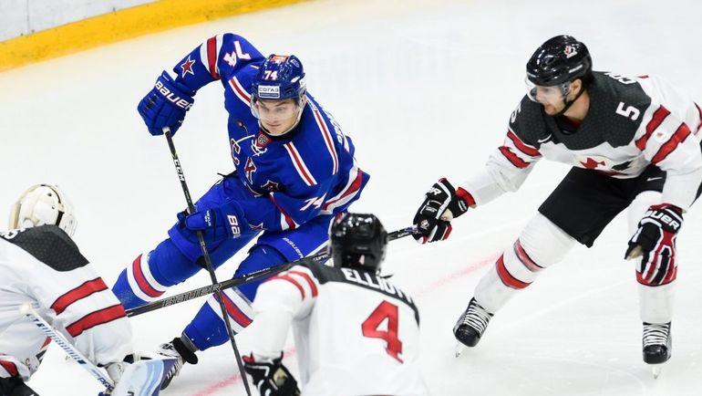 Кто играл против СКА в свитерах сборной Канады? Фото ХК СКА