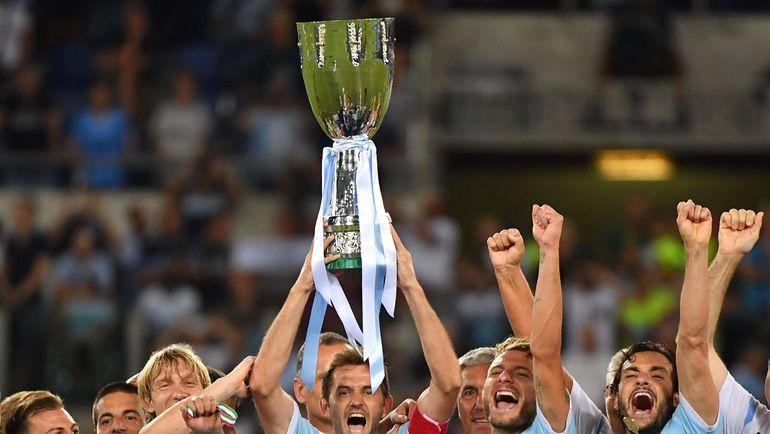 """""""Лацио"""" обыграл """"Ювентус"""" и выиграл первый трофей в сезоне. Фото AFP"""