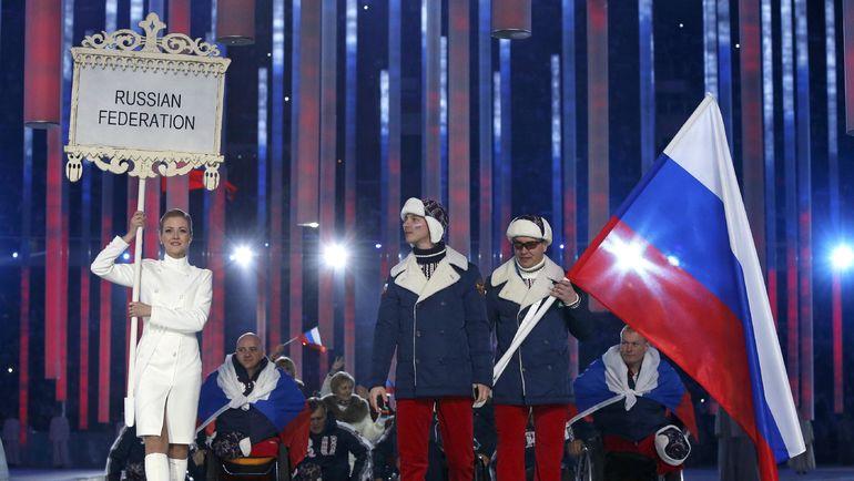 7 марта 2014 года. Сочи. Паралимпийская сборная России на церемонии открытия зимних Олимпийских игр. Фото AFP