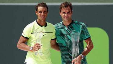 Рафаэль НАДАЛЬ (слева) и Роджер ФЕДЕРЕР не сыграют друг против друга в финале US Open. Фото USA TODAY Sports