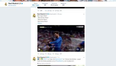 """Взломанная страница """"Реала"""" в Твиттере."""