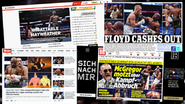 Заголовки мировых СМИ о бое Мейвезер - Макгрегор.