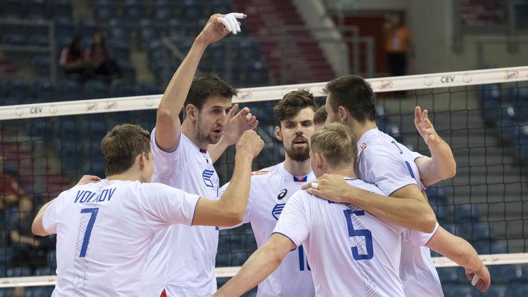 Понедельник. Краков. Россия - Испания - 3:0. Благодаря первому месту в группе,  Россия обеспечила себе прямой выход в четвертьфинал. Фото cev.lu