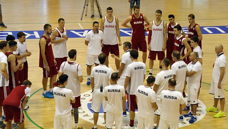Тренировка сборной России. Фото Алексей ИВАНОВ