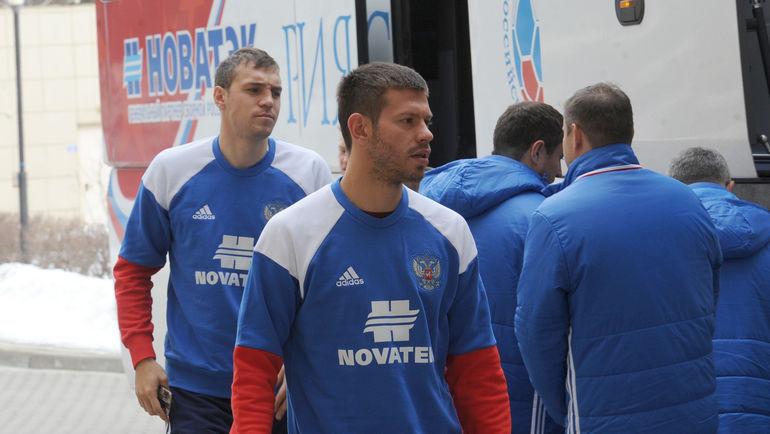 Артем ДЗЮБА (слева) и Федор СМОЛОВ. Фото Алексей ИВАНОВ