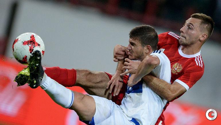 Четверг. Москва. Россия - Армения - 0:0.