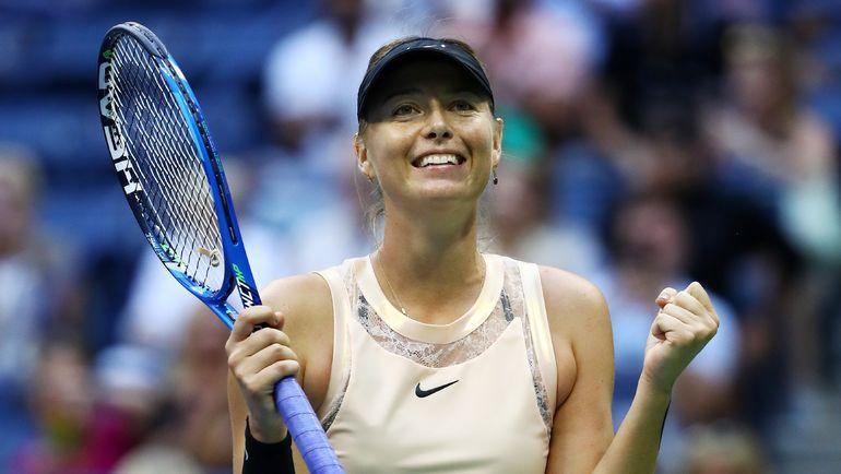 Вчера. Нью-Йорк. Мария ШАРАПОВА празднует вторую победу на US Open. Фото REUTERS