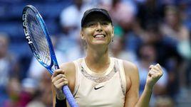 Вчера. Нью-Йорк. Мария ШАРАПОВА празднует вторую победу на US Open.