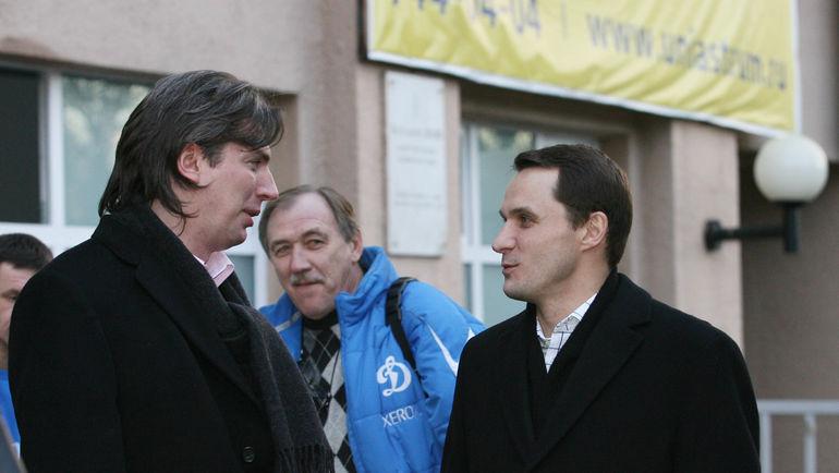 """2007 год. Дмитрий ИВАНОВ (слева) и Андрей КОБЕЛЕВ. Фото Александр ФЕДОРОВ, """"СЭ"""""""