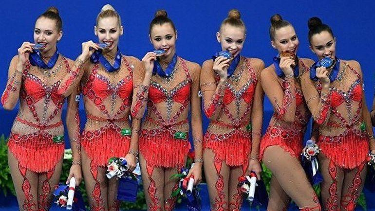Россиянки с золотыми медалями чемпионата мира.