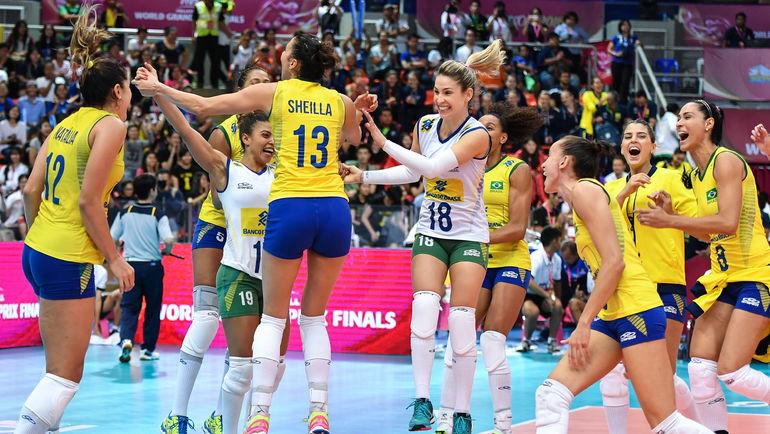 Бразильянки - первые соперницы сборной России на Всемирном кубке чемпионов. Фото FIVB