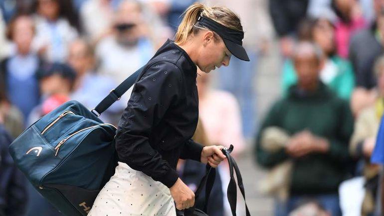 """Воскресенье. Нью-Йорк. Мария ШАРАПОВА не сумела пробиться в первый четвертьфинал турнира """"Большого шлема"""" после возвращения. Фото AFP"""