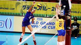 Сегодня. Токио. Россия - Бразилия - 1:3. Россиянки начали Всемирный кубок чемпионов с поражения.