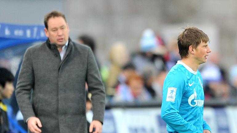 2012 год. Леонид СЛУЦКИЙ (слева) и Андрей АРШАВИН. Фото Алексей ИВАНОВ