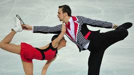 8 февраля 2014 года. Сочи. Ксения СТОЛБОВА и Федор КЛИМОВ на Олимпийских играх.