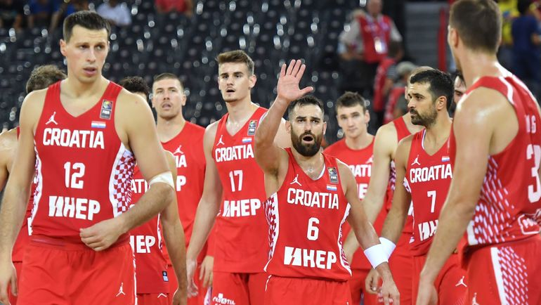 Сборная Хорватии - соперник России по 1/8 финала Евробаскета. Фото AFP