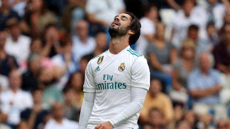 """Вчера. Мадрид. """"Реал"""" - """"Леванте"""" - 1:1. ИСКО вместе со своими партнерами вновь потеряли очки в чемпионате Испании. Фото AFP"""