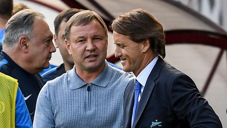 """Юрий КАЛИТВИНЦЕВ (слева) и Роберто МАНЧИНИ. Фото Дарья ИСАЕВА, """"СЭ"""""""