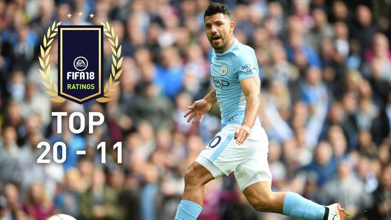 EA Sports опубликовала карточки игроков с 20 по 11 места в Топ-100 FIFA 18. Фото easports.com