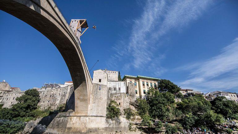 Гэри ХАНТ в Мостаре. Фото AFP