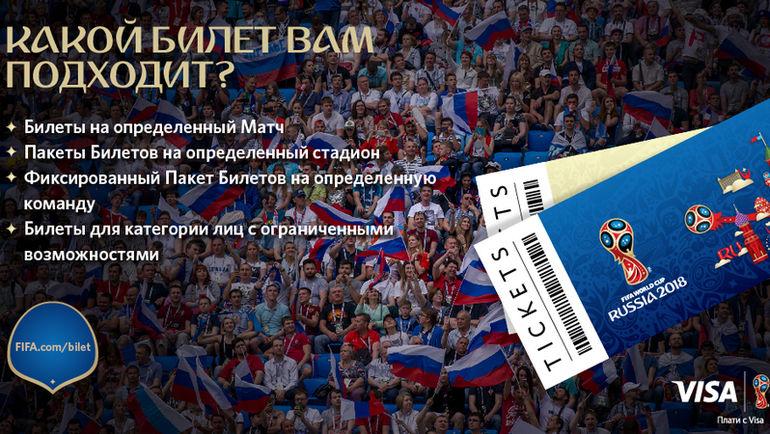 Билетные продукты ЧМ-2018.