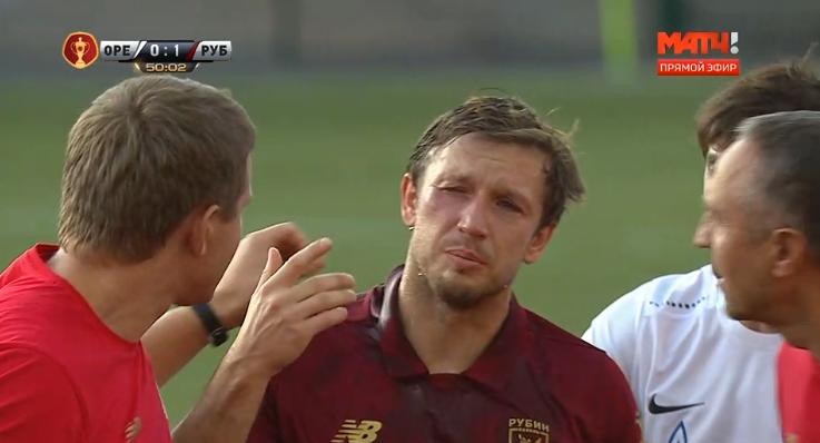 Олег Кузьмин после столкновения.