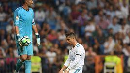 "Вчера. Мадрид. ""Реал"" - ""Бетис"" - 0:1. КРИШТИАНУ РОНАЛДУ у ворот Антонио АДАНА."