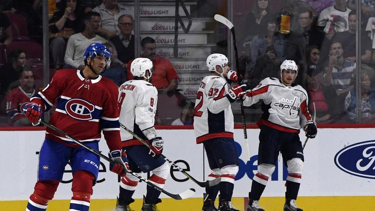"""Хоккеисты """"Вашингтона"""" празднуют победу. Фото USA TODAY Sports"""