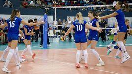 Сегодня. Баку. Россия - Украина - 3:2. Россиянки начали чемпионат Европы с победы.