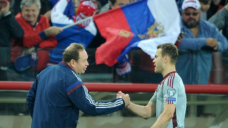 Игорь АКИНФЕЕВ (справа) и Леонид СЛУЦКИЙ. Фото Алексей ИВАНОВ
