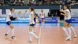 Сегодня. Баку. Россия - Турция - 3:1. Победа гарантировала россиянкам выход в плей-офф.