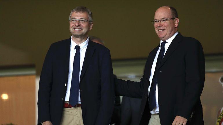 """Владелец """"Монако"""" Дмитрий РЫБОЛОВЛЕВ (слева) и князь Альбер II. Фото AFP"""