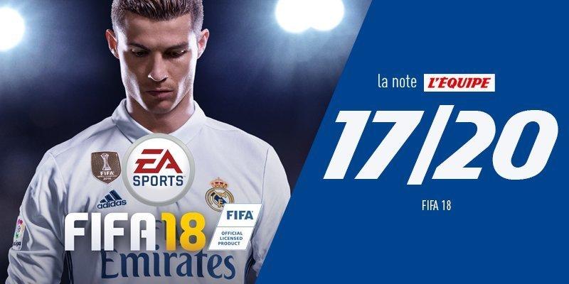 Оценка FIFA 18 от L'Equipe. Фото L'Equipe