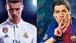 Обложки FIFA 18 и PES 2018.