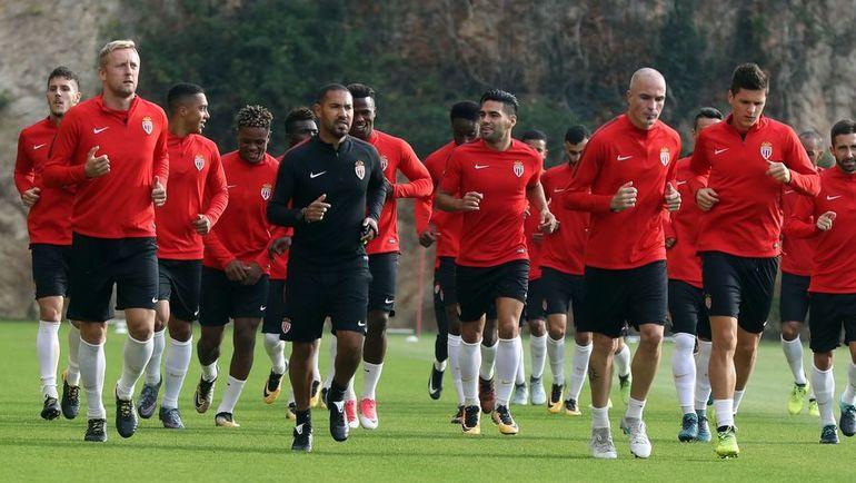 """Игроки """"Монако"""" готовятся к дуэли с """"Порту"""". Фото AFP"""