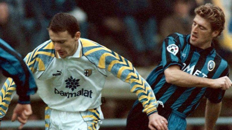 """Массимо КАРРЕРА (справа) в """"Аталанте"""" в 1996 году. Фото REUTERS"""