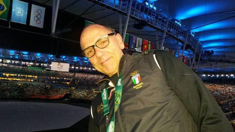 С волейбольной сборной Италии Джорджо Д'УРБАНО ездил на Олимпиаду в Рио. Фото Фейсбук Джорджо д'Урбано