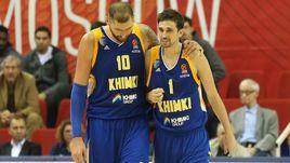"""Сегодня. Химки. """"Химки"""" - """"Панатинаикос"""" - 73:70. Алексей ШВЕД (справа) вернулся из сборной и сразу набрал 18 очков."""