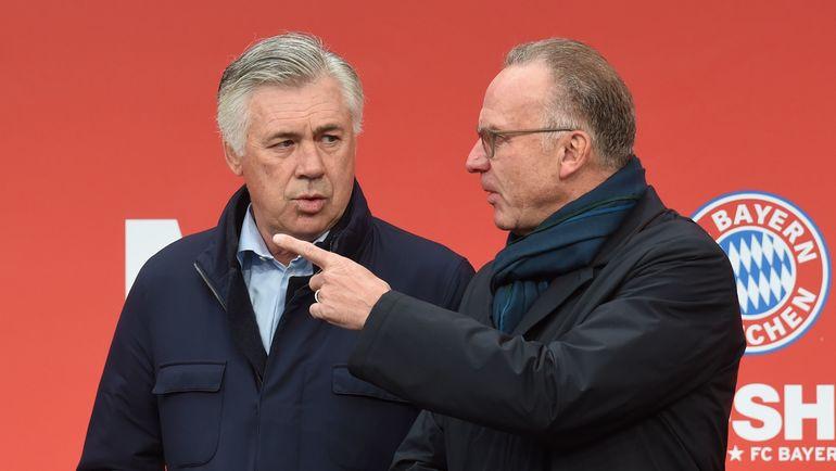 Карло АНЧЕЛОТТИ и Карл-Хайнц РУММЕНИГГЕ. Фото AFP