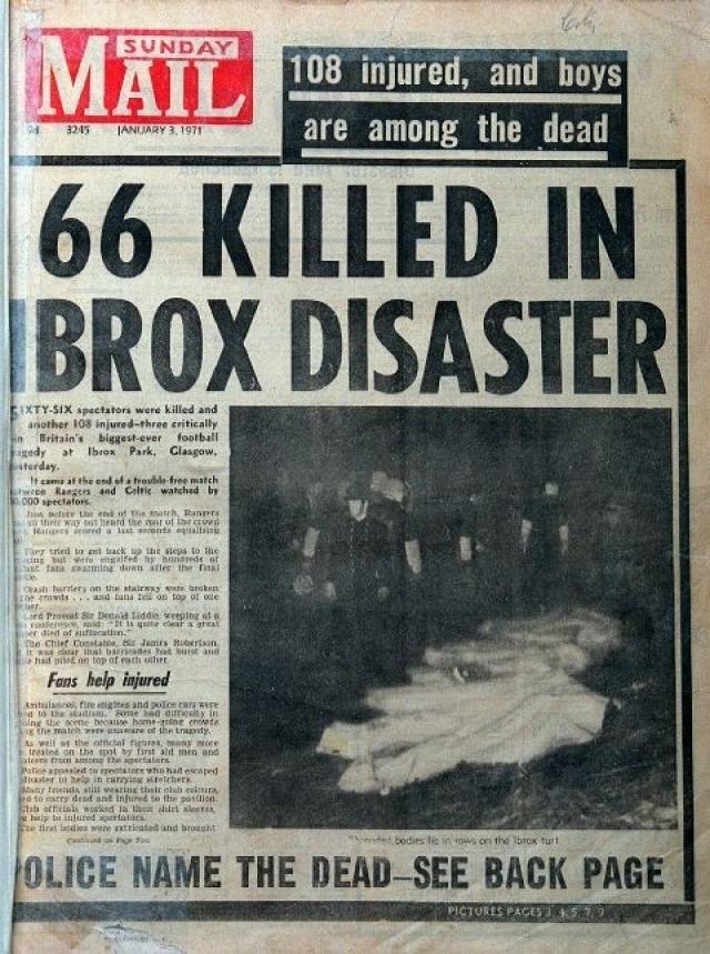 Передовица Sunday Mail 1971 года.